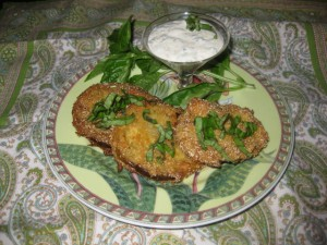 Fried Green Tomatoes with Ravigote Sauce