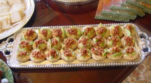 Avocado Bacon Canapes