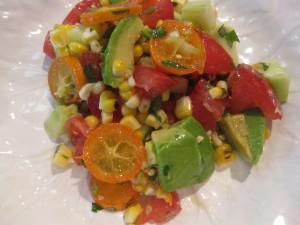 Kumquat, Corn, And a Few Other Things Salad