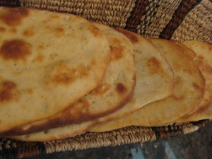 Garlic and Oregano Naan