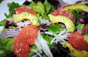 Spring Salad with Grapefruit and Avocado