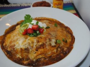 Stacked Green Chili & Grilled Chicken Enchiladas