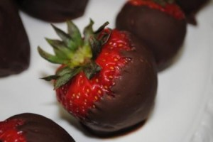 Peanut Butter Filled Chocolate Dipped Strawberries