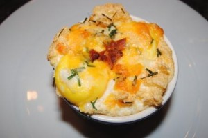 Souffled Cheddar Egg Nest