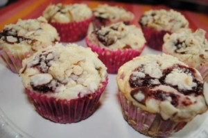 Raspberry Cheesecake Muffins