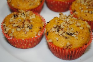 Pumpkin Muffins with Chocolate Chips