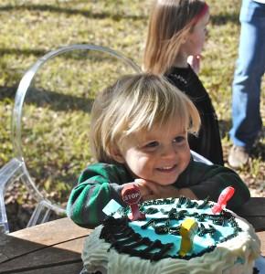 De-railed Thomas the Train Cake