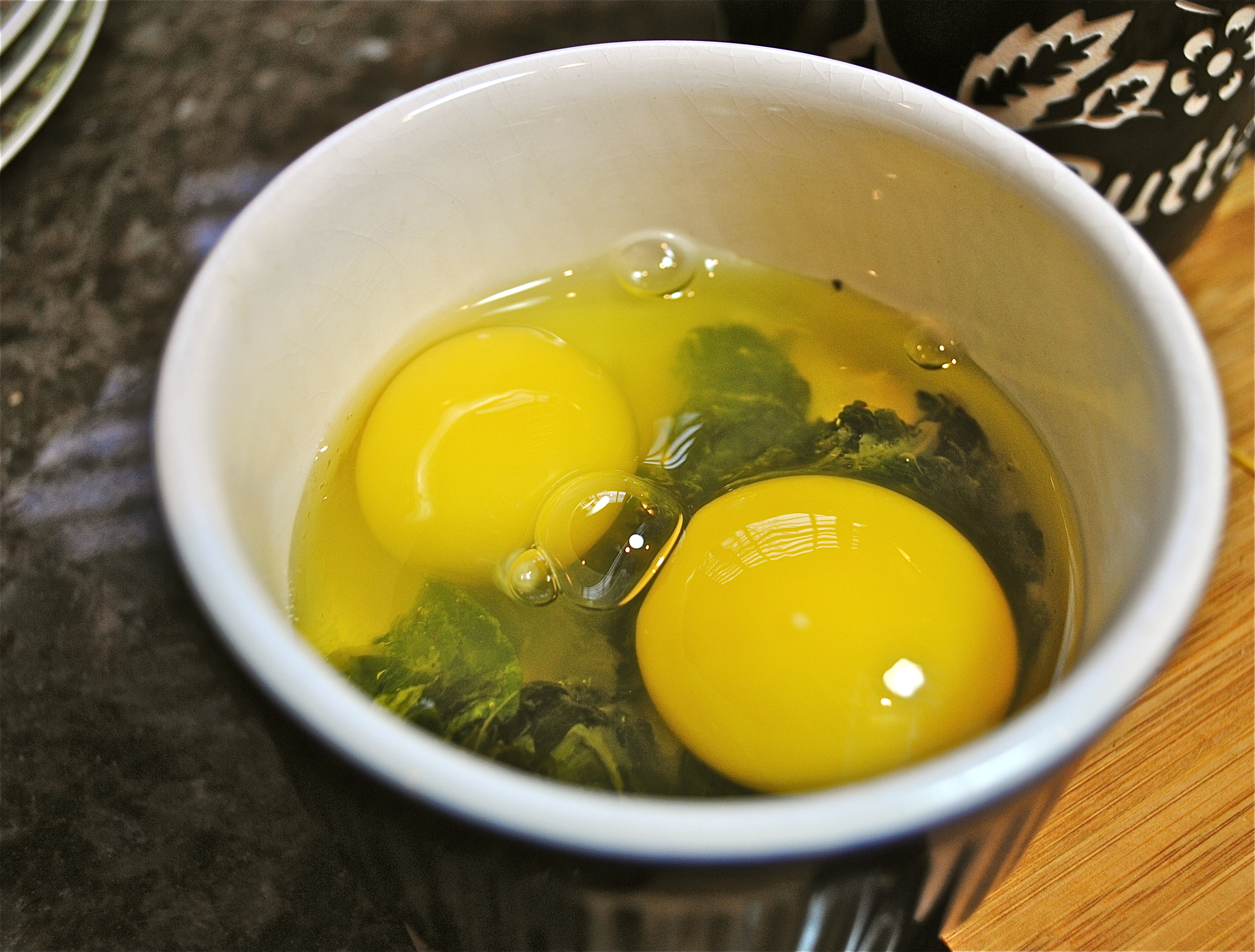 Shirred Eggs with Kale «