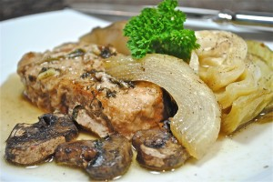 Pork Chops with Cabbage and Thyme