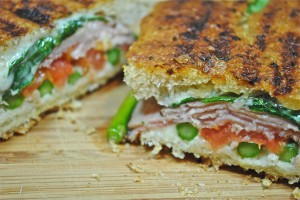 Asparagus Ham and Cheese Melt