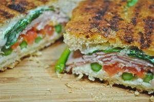 Asparagus Ham and Cheese Melt