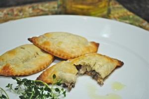 Mushroom Turnovers in Cream Cheese Pastry