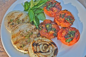 Grilled Tomatoes and Onions