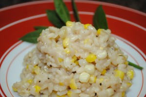 Sweet Corn Risotto with Blue Cheese