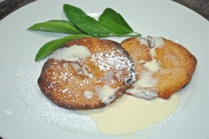 Apple Fritters with Crème Anglaise