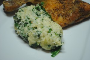 Cauliflower Mash with Kale