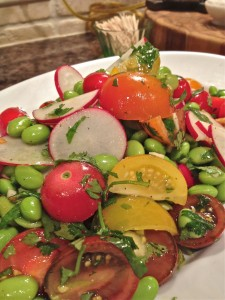 Tomato and Edamame Salad