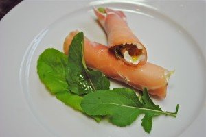 Prosciutto Rolls with Fig Preserves