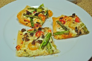 Tomato Phyllo Pizza