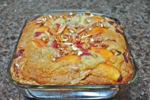 Fresh Peach and Raspberry Cake
