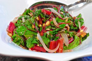Red Chard and Pine-nuts