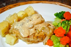 Country Pork Chops with Mushroom Sauce