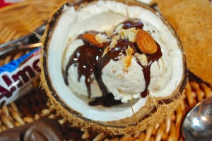 Coconut Almond Ice Cream