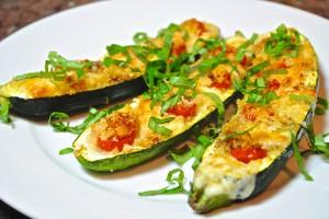 Zucchini Tomato Boats