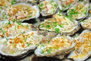 Parmesan Crab Grilled Oysters