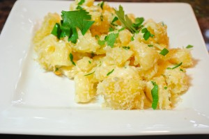White Cheddar Mac and Cheese w/ Truffle Oil