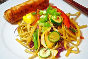 Szechwan Noodles with Baby Vegetables