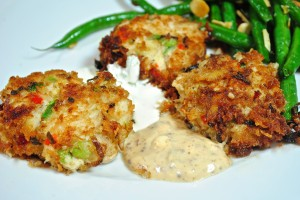 Coconut Crusted Crab Cakes