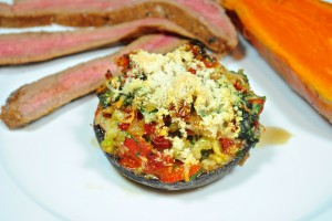 Squash Stuffed Portobella Mushrooms