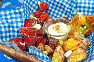 French Fried Beets with Japanese Mayonnaise