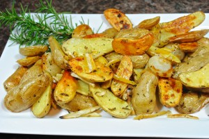 Fingerling Potatoes with Preserved Lemons