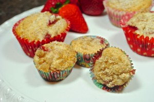 Strawberry Goat Cheese Muffins