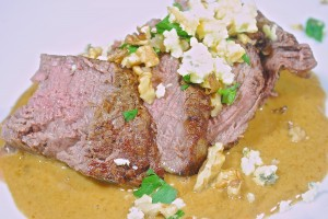 Beef Filet with Blue Cheese Sauce