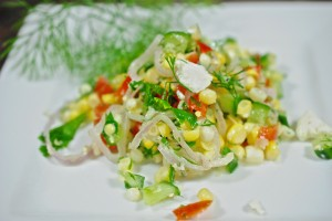 Sweet Corn Salad with Buttermilk Dressing