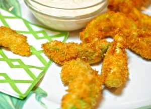 Fried Avocado with Spicy Dipping Sauce
