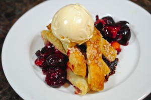 Cherry and Peach Strudel