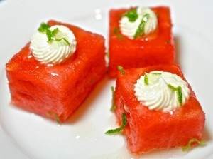 Watermelon Feta Squares