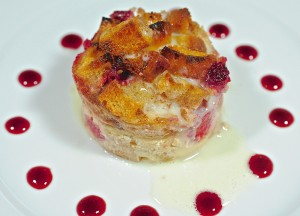 Raspberry Ciabatta Bread Pudding