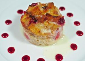 Raspberry Ciabatta Bread Pudding