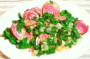 Candy Striped Beet Greens