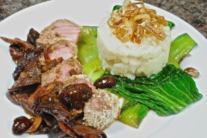 Pork Tenderloin with Shiitake Mushroom Sauce