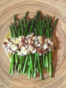 Grilled Asparagus with Egg and Bacon