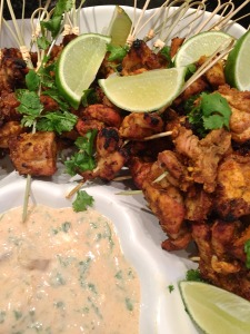 Tandoori Chicken Thigh Kabobs