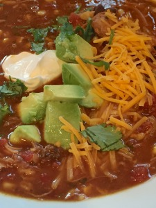 Slow-cooked Chicken Tortilla Soup