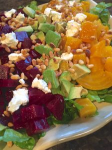 Roasted Beet and Pine Nut Salad