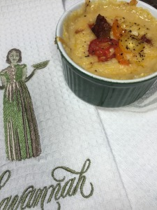 Bacon and Tomato Cheese Grits